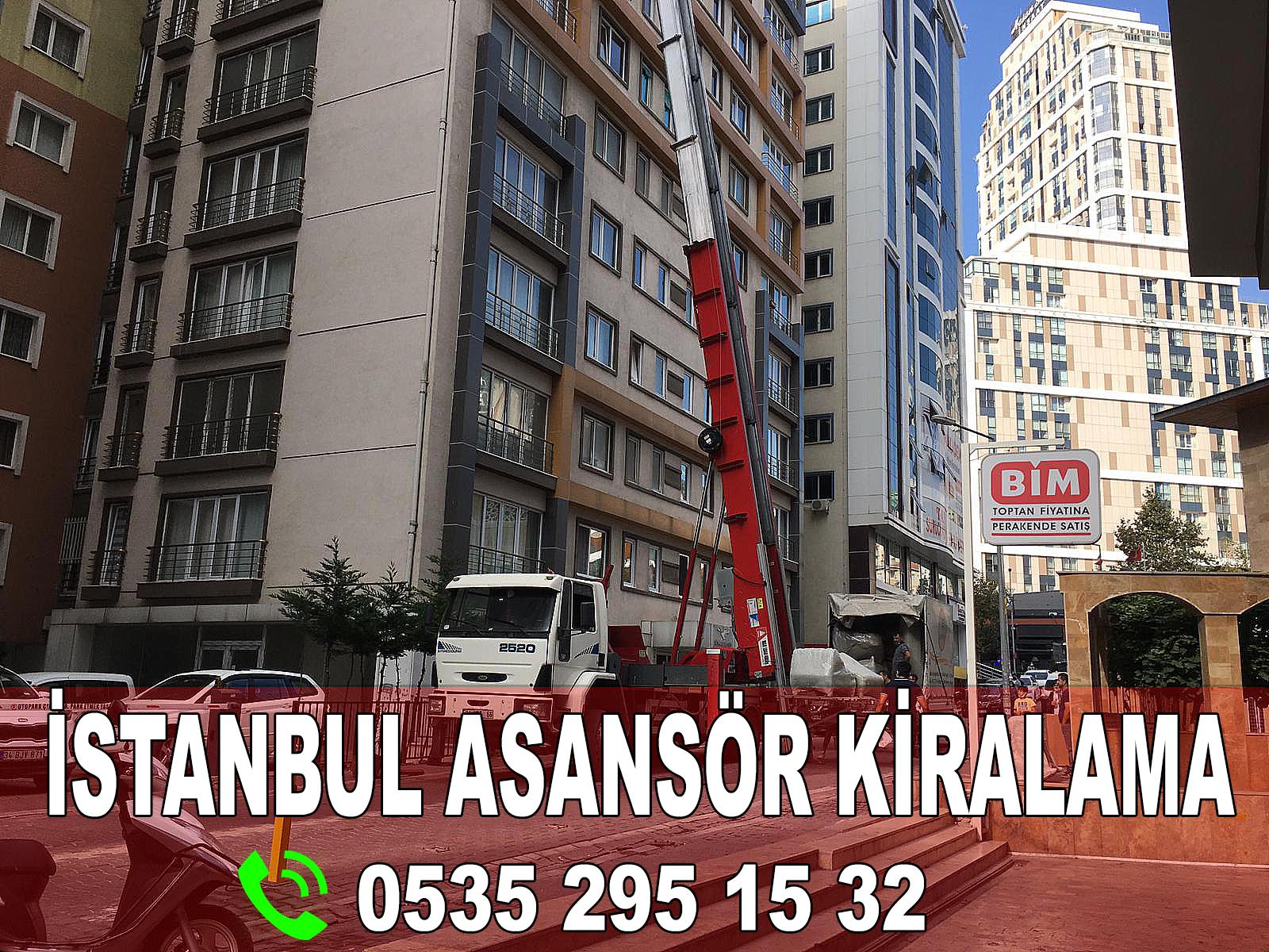 İstanbul kiralık asansör